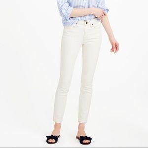 J. CREW Toothpick in Ecru Skinny Ankle Jeans